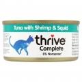 THRIVE 整全膳食100% 吞拿魚+海蝦+墨魚貓罐頭 75G x 12