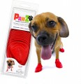 Pawz boots 防水狗腳套 s (紅)