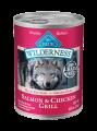 Blue Wilderness® 三文魚雞肉燒烤肉罐裝犬糧 12.5oz x4罐
