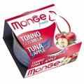 Monge 生果系列 貓罐頭 80g - 吞拿魚+蘋果