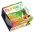 Monge 生果系列 貓罐頭 80g - 雞肉+雜果
